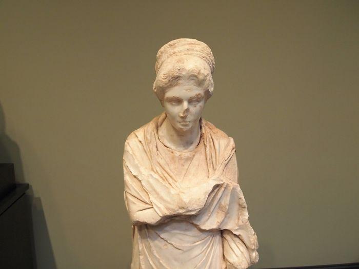 Ancient Greek Sculptures Were Originally Painted Bright Colors