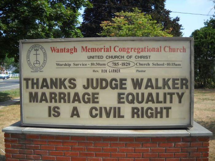 Wantagh Memorial Congregational Church Signs
