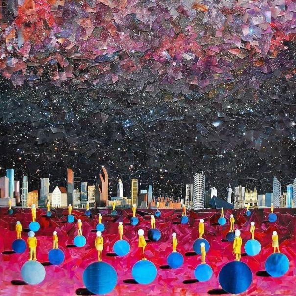 """""""Big City"""", 100x90 cm"""