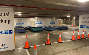 This Parking Lot Is Turned Into A Safe Haven For The Homeless At Night