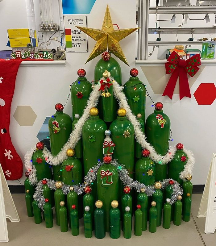 I Work For A Gas Company. This Is Our Christmas Tree This Year