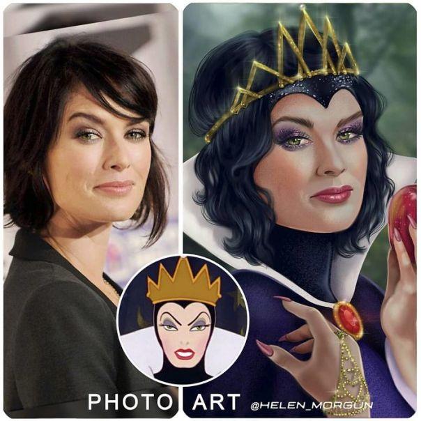 Lena Headey As Evil Queen From Snow White