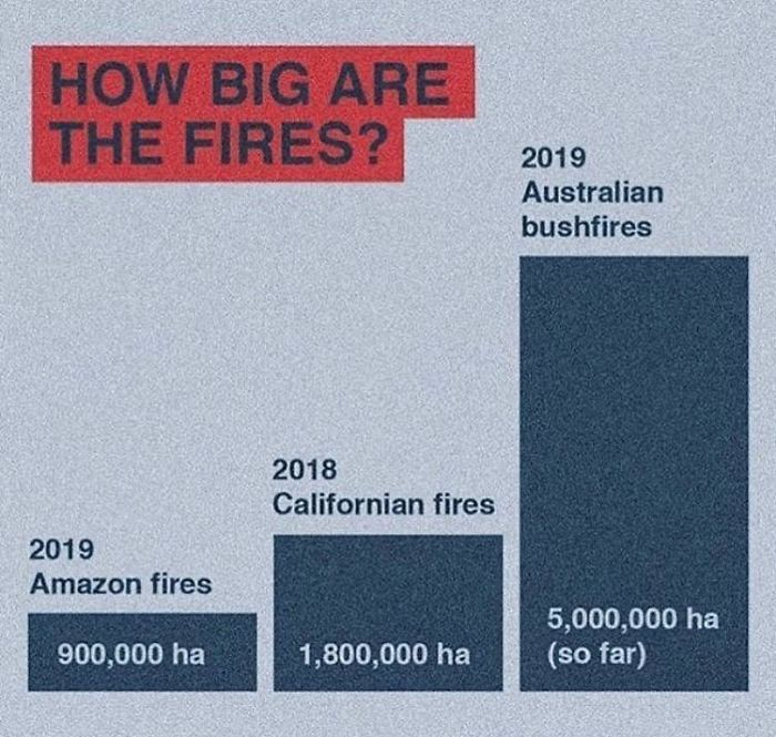 How Big The Fires Are