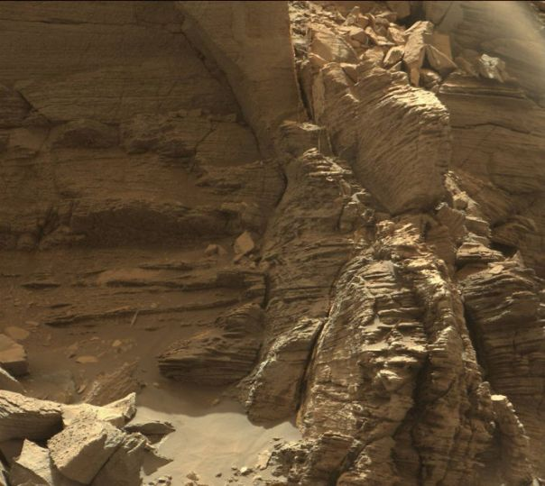 Outcrop In The Murray Buttes Region Of Lower Mount Sharp
