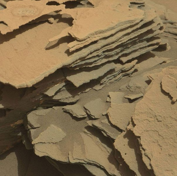 """Curiosity Visited An Area Named """"Fracture Town"""" Which Contains Many Pointed, Layered Rock Formations"""
