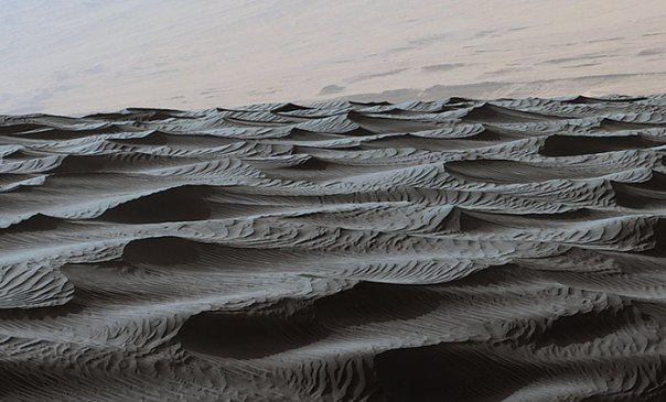 Ripples On Surface Of Martian Sand Dune