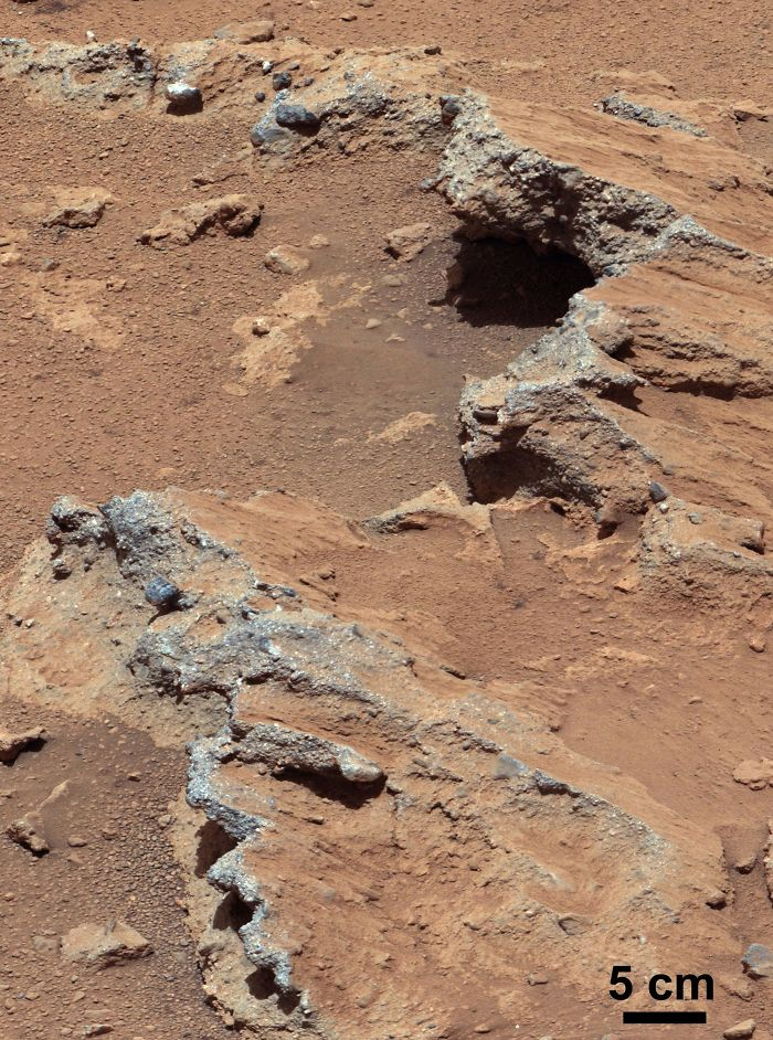 Remnants Of Ancient Streambed On Mars