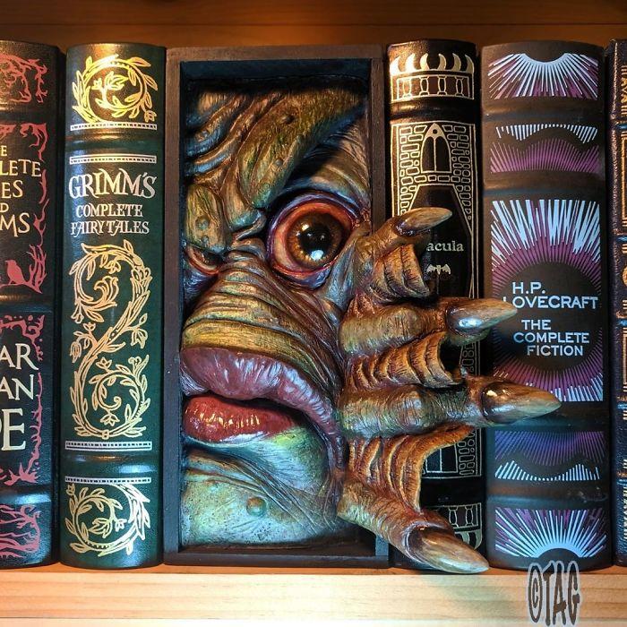 Creature From The Black Lagoon Bookshelf Monster