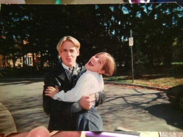 My Mother Found This Photo Of My Church Friend (Ryan Gosling) And I. We Had Some Awful 90s Hairs Cuts