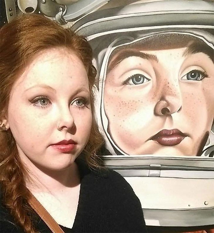 I Found My Doppelgänger In This Painting At A Local Art Exhibit