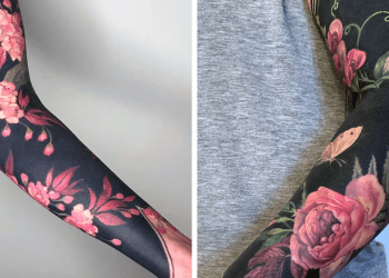 Artist Took The Blackout Tattoo Trend To The Next Level By Tattooing Renaissance-Inspired Blossoms On People's Limbs