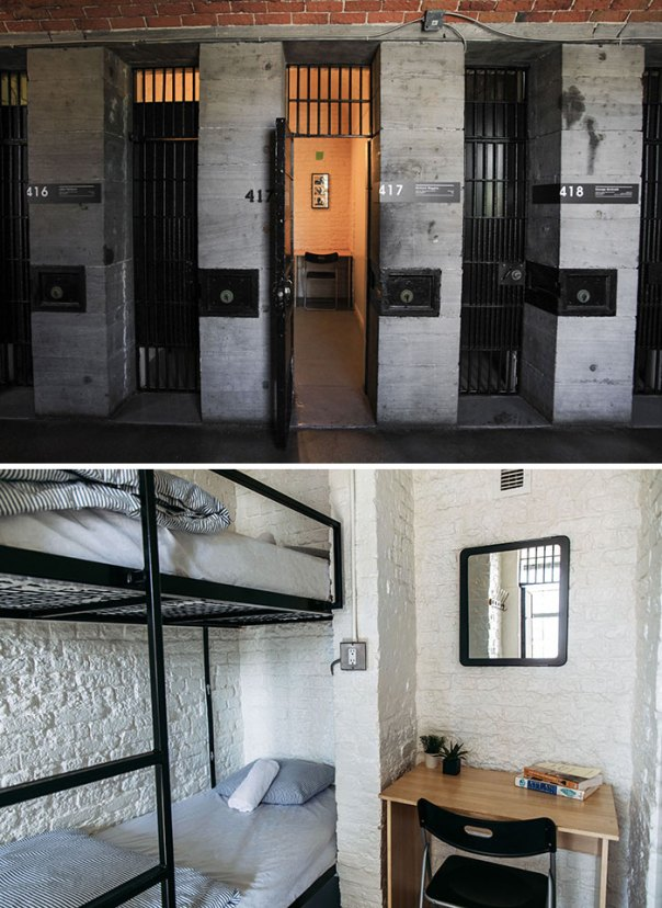 Ottawa's Jail Hostel, Each Cell Converted To A Two-Person Hostel Room