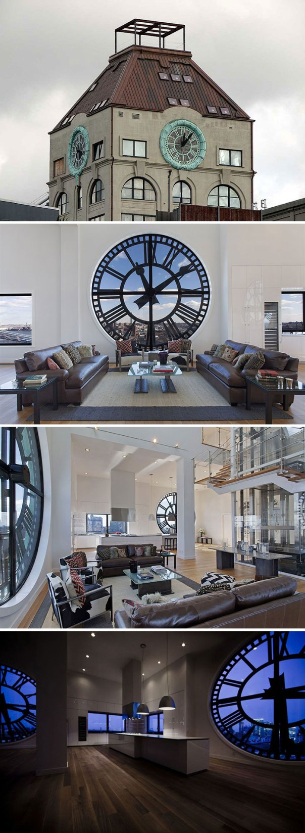 Old Clock Tower Transformed Into A Penthouse