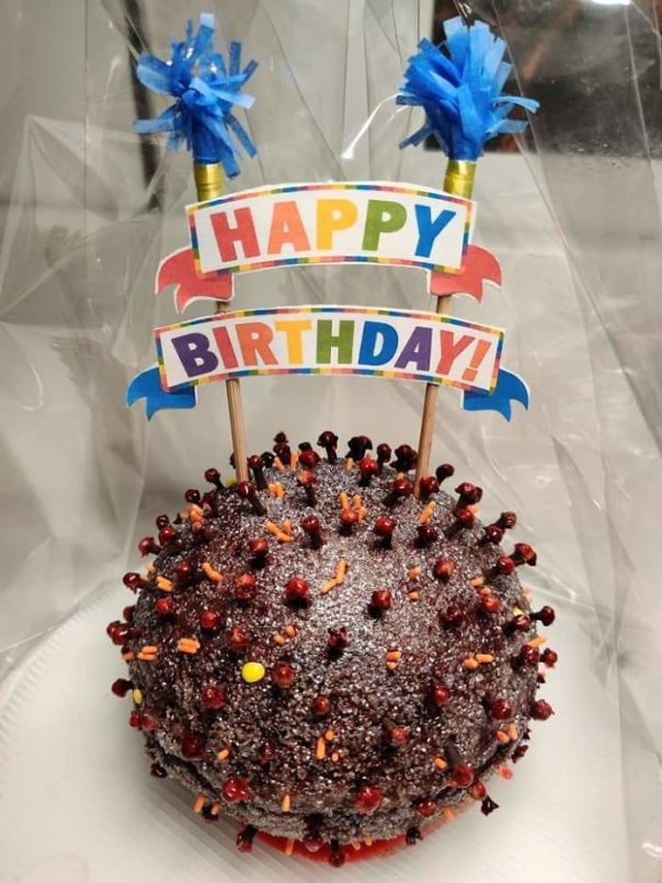 My Friend Received A Coronavirus Birthday Cake
