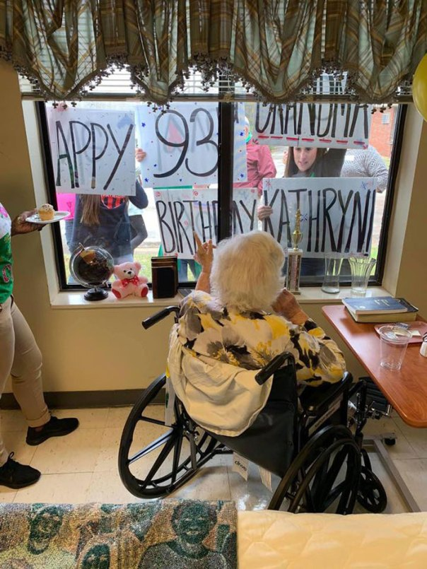Ms. Kathryn Was Still Able To Celebrate Her 93rd Birthday With Her Family Even During The Quarantine
