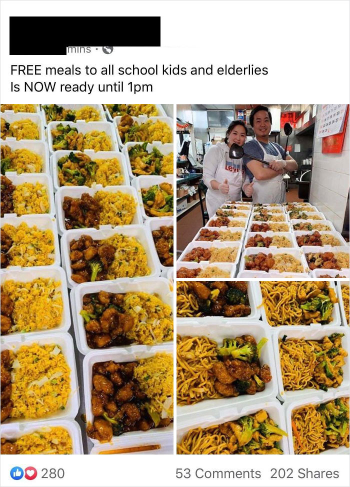 My Local Chinese Restaurant Fed 100 People For Free Today. This Is What Community Is All About
