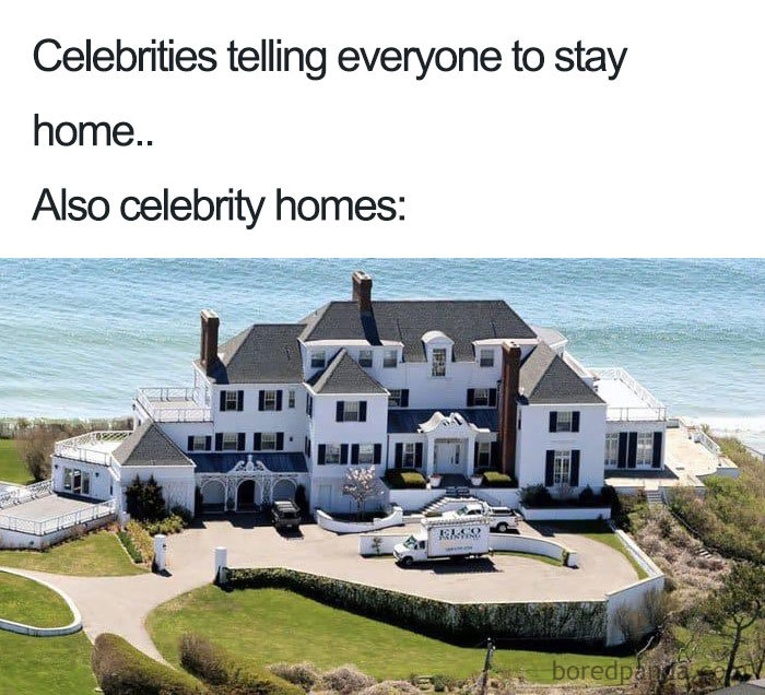 Celebrities Telling Everyone To Stay Home..also Celebrities Homes.