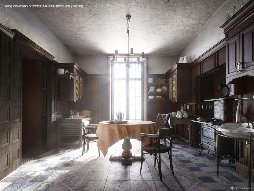 04 1800s kitchen 5e8c992144c5b  880 - Cozinha refeita digitalmente mostra evolução de 500 anos