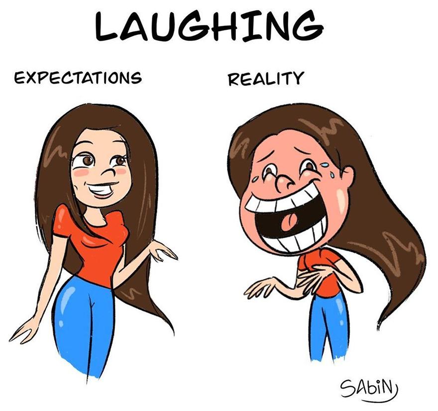Artist Makes Humorous Illustrations Showing Girls' Harsh Routine