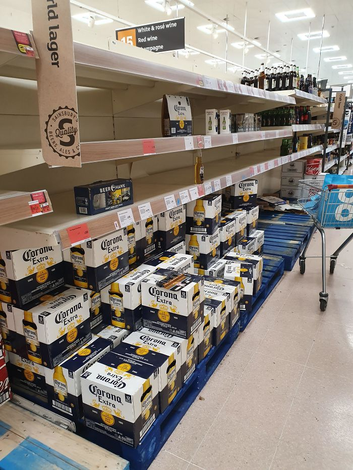 Went To The Shop Last Night. Every Aisle Had Been Picked Clean Apart From This... People Are Idiots