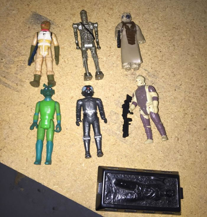 Look What I Found While Doing Some Spring Cleaning. Original Star Wars Figures From 1980