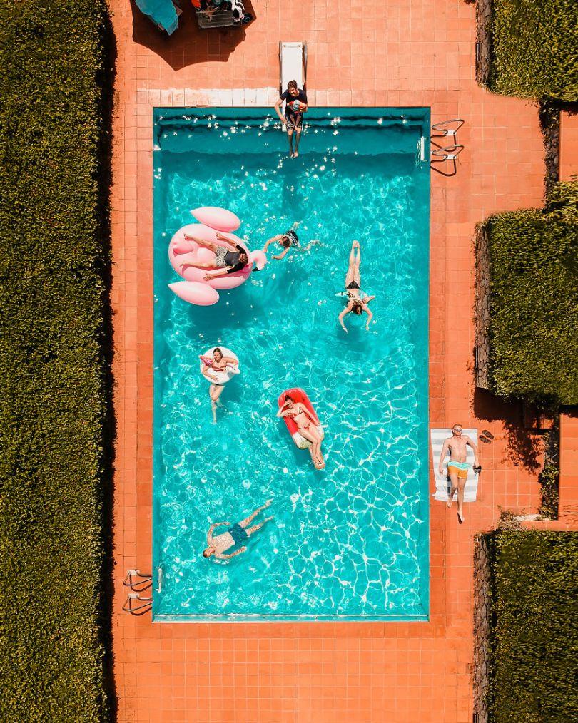 Situações da piscina
