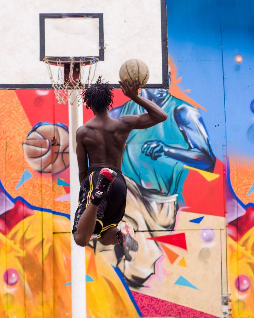 A parte divertida de jogar basquete