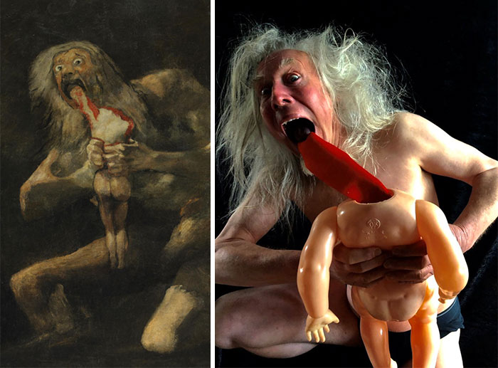 My Dad's Getty Museum Challenge; Saturn Devouring His Son By Goya