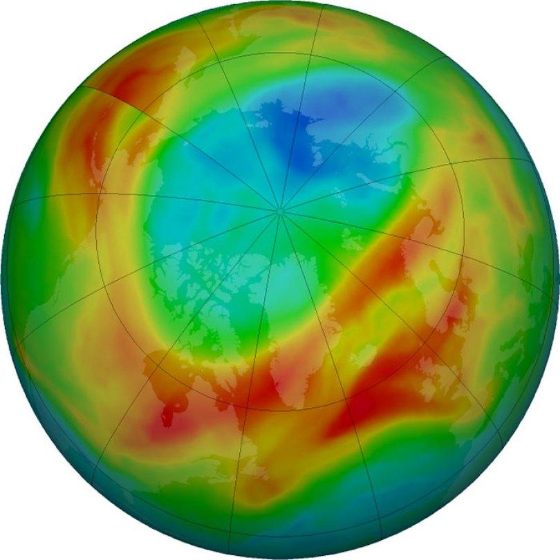 north hemisphere arctic ozone hole closed 1 5eaa8b622236a  700 - Cientistas anunciam que provavelmente o maior buraco na camada de ozônio se fechou