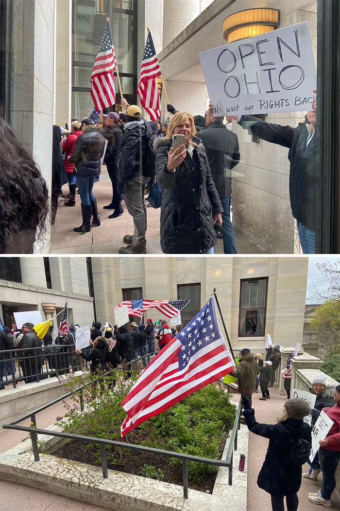Protesters Against Quarantine Back Again At The Ohio Statehouse
