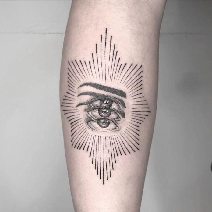Дважды Tattoo-Оптико-Иллюзия-Yatzil-Tatts