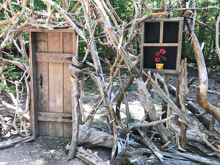 """Both Named David, Husbands Of 30 Years Build A """"Doorway To Imagination"""" In Their Backyard During Quarantine"""