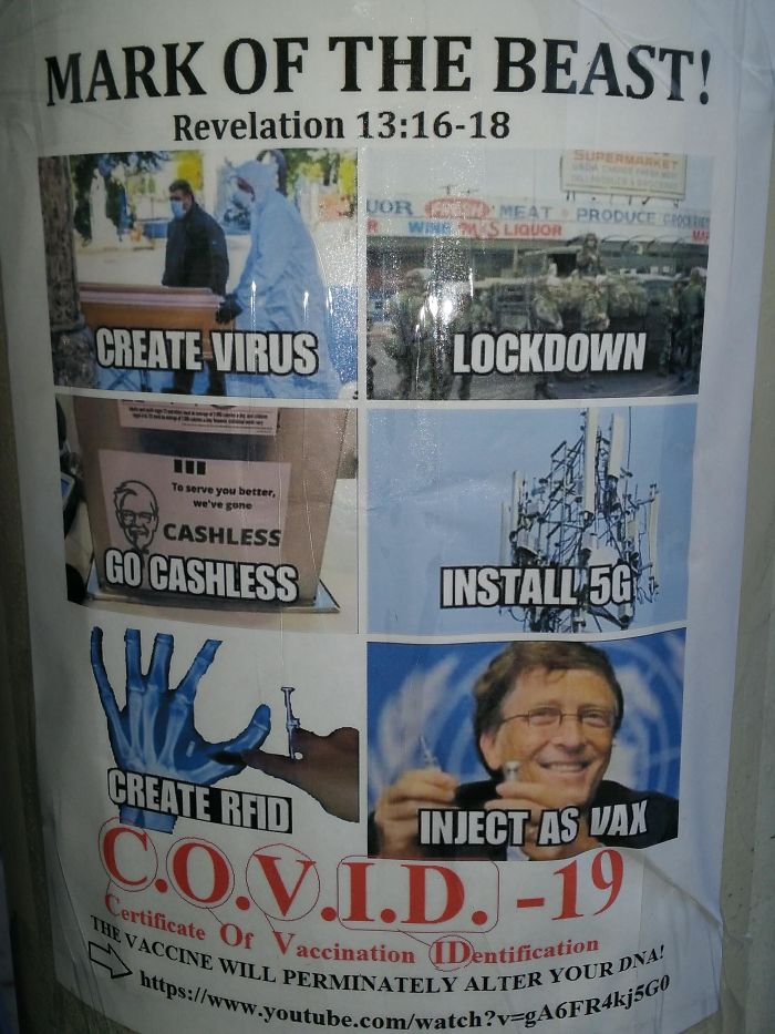 Found This Covid Conspiracy Poster On A Walk Today