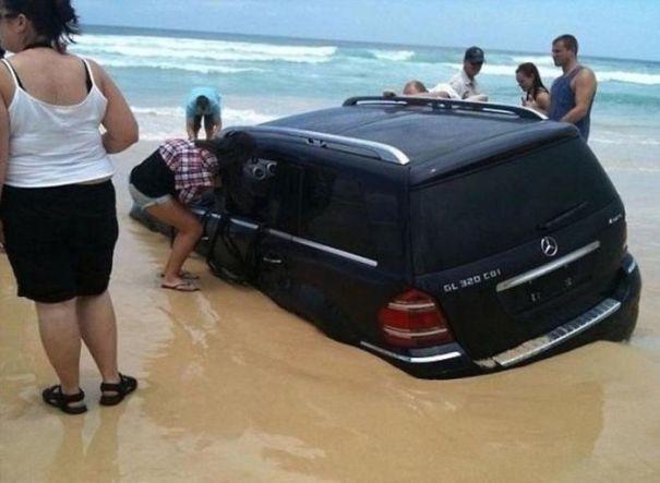 Parking On The Beach