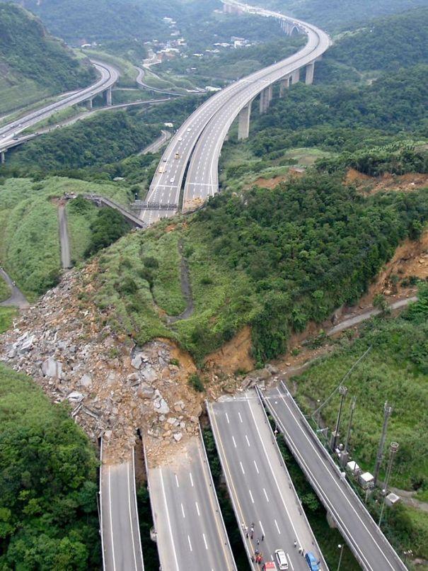Landslide On Highway