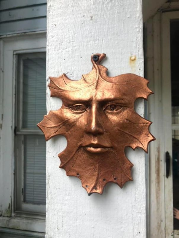 As Soon As I Saw It, It Called To Me! I'm A Big Fan Of Celestial Decor But I Have Never Seen A Leaf With A Face Before. I Absolutely Love It. It Now Protects The Outside Of My House