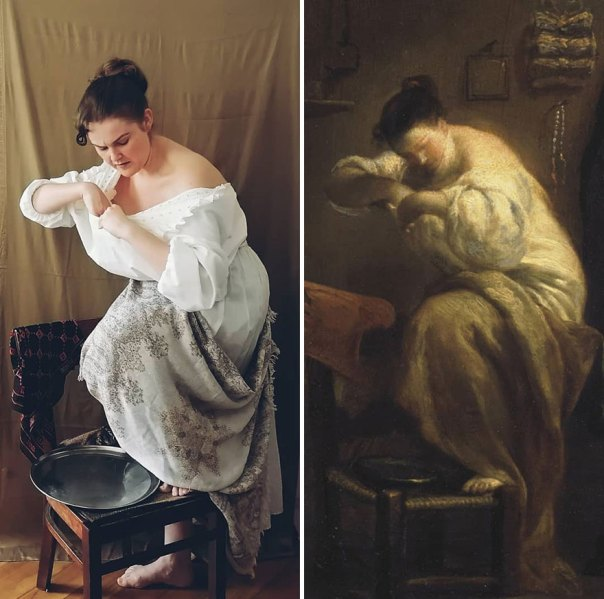"""Giuseppe Maria Crespi """"Woman Looking For Fleas"""" (~1710)"""