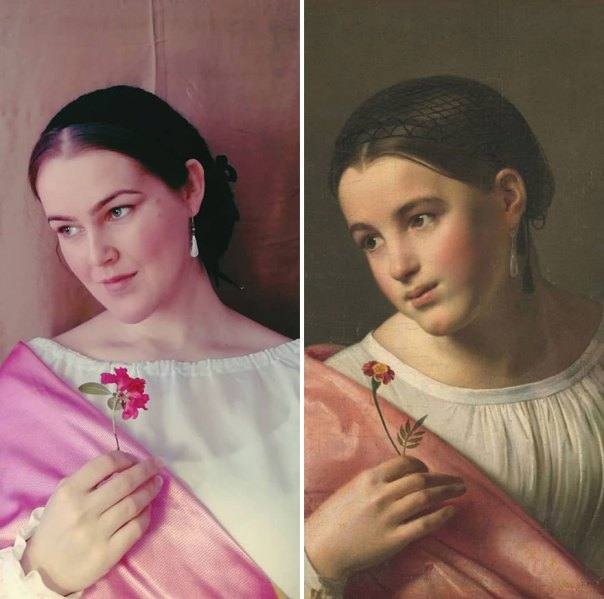 "Orest Adamovich Kiprensky ""Poor Lisa"" (1827)"