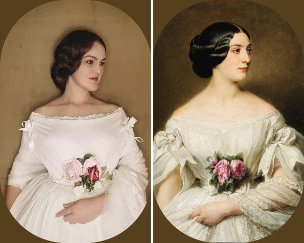 "Hermann Winterhalter ""Portrait Of Clémentine De Boubers, Baronne Renouard De Bussierre"" (1854)"