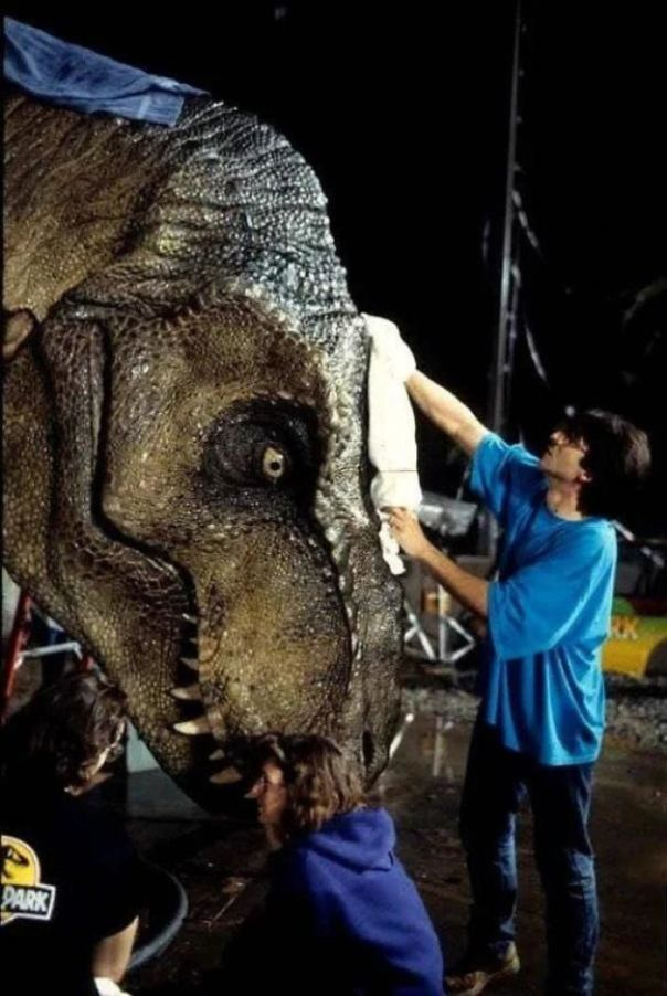 During The Filming Of Jurassic Park (1993), T-Rex Was Known To Sweat Profusely As It Was His First Major Role In 55 Million Years