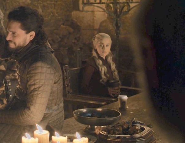 In Game Of Thrones, S8e4, You Can Clearly See A Starbucks Cup In One Scene. This Is A Subtle Nod To How The Show Runners Literally Don't Give A Fu*k Anymore