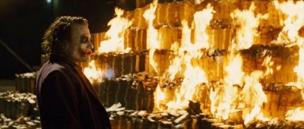 In The Dark Knight(2008) Joker Burns A Pile Of Cash, Which Is Illegal In The Us. This Little Detail Implies That Joker Might Be A Bad Person