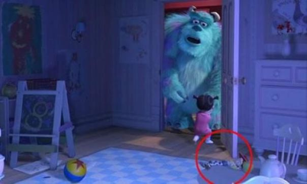 In Monsters Inc, There's This Scene Where You Can Clearly See Jesse From Toy Story Is One Of Boo's Toys