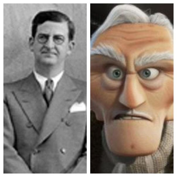 "Charles Muntz, The Villain In Pixar's ""Up,"" Is Named After Real Life Disney Villain Charles Mintz, Who Stole Walt Disney's First Creation, Oswald The Lucky Rabbit"