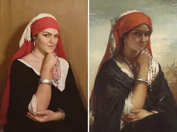 "Jean-Francois Portaels ""The Necklace"" (~1850)"