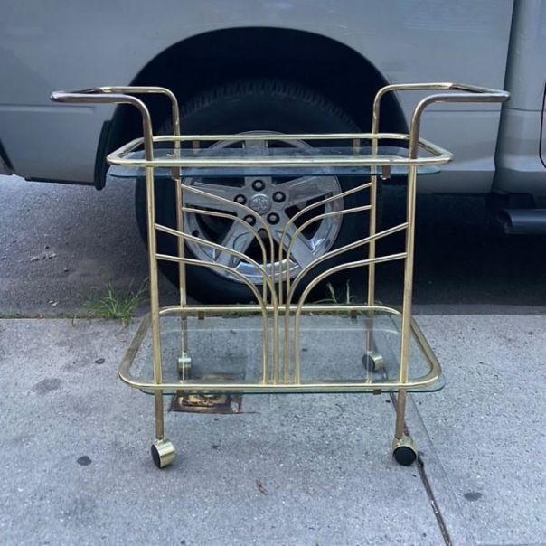 Thursday Is The New Friday, Am I Right? Start The Weekend Now With This Art Deco Bar Cart! On Conselyea And Lorimer In Williamsburg
