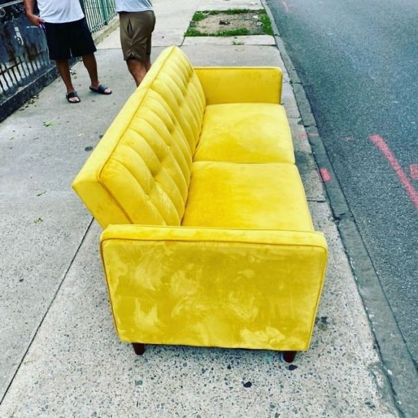 You Guysssss...it's Velvet And Yellow!!! Bushwick On Cooper Between Wilson And Central