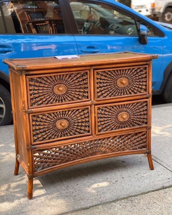 Almost Too Beautiful To Be Used To Hold Socks, Am I Right? Vintage Dresser @ 479 Clinton Ave In Clinton Hill Bk