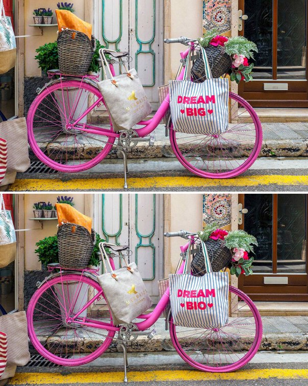 Bicycle On The Street (12 Differences)