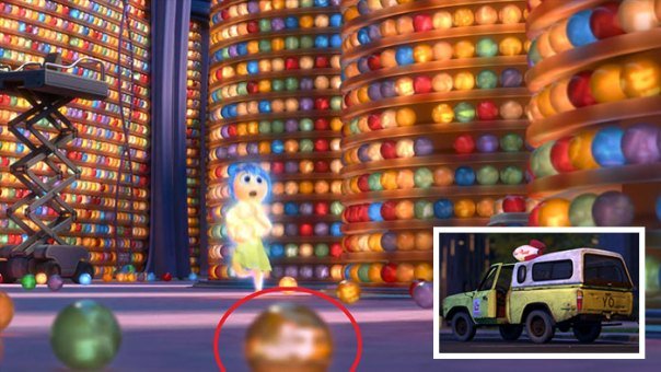 Some Of Riley's Memories Are References To Other Pixar Movies Or Easter Eggs, Such As The Pizza Planet Truck Or The House From Up